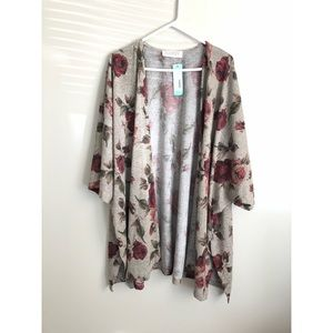 NWT stitchfix Audrey 3+1 floral kimono cardigan